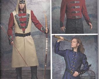 Simplicity 8235 Mens Teen Boys Cosplay Halloween Fantasy Coat Jacket Vest Hood Costume Sewing Pattern Sizes 38-44 New UNCUT