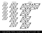 Custom Triangle geometric wall stickers