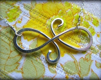 Infinity Swirl Friendship Necklace - Symbol Sterling Silver - Priority USPS -Gift Christmas Best Friends Sisters Daughter Graduation Reunion