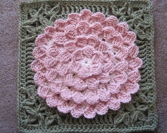 Mum In Treble Afghan Square Original Pattern by Julie Yeager