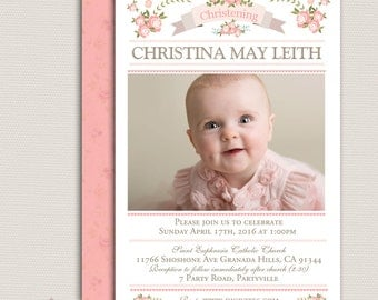 Digital invitation whatsapp invitation baptism and birthday girl photo christening invitationbaptism invitationnaming daygirl baptism invitationphoto stopboris