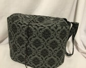 RESERVED FOR HARRIET - The Oval Yarn Owl Project Bag for knitting or crochet