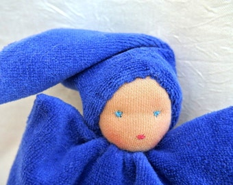 Waldorf doll, pillow doll 8inch, for babies and kids, made of natural materials.