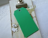 Vintage Green Shipping Tags