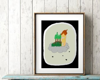 My Floating House - PRINT - various sizes