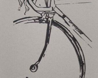 My Bike on Gray - Lil' Print