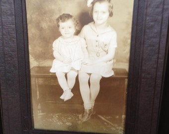 Sisters - Antique Photograph in a Folder - Display or Gift - Instant Ancestors The Summers Sisters
