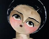 Éffleurer  Original Acrylic Painting 8x8