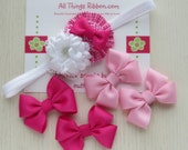 Be My Valentine Headband and Basic Hair bow clip set