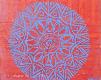 Original Mixed Media Mandala Painting: Heart Rate