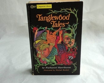 TANGLEWOOD TALES Hollow Book Keepsake Box Vintage Book Fake Book Secret Secret Stash Box Hidden Compartment Groomsman Wedding Party Wood