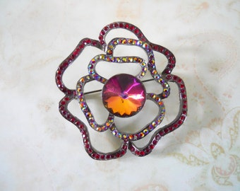 Vintage Rose Brooch Pin