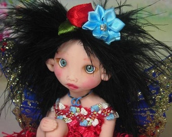 Fairy Fairies Fae pixie elf OOAK Fantasy Art Doll By Lori Schroeder 480GY