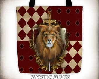 Gryffindor / Harry Potter / Fully Printed Tote / Hogwarts House / Gryffindor Pride / Gryffindor Crest / Slytherin / Hufflepuff / Ravenclaw