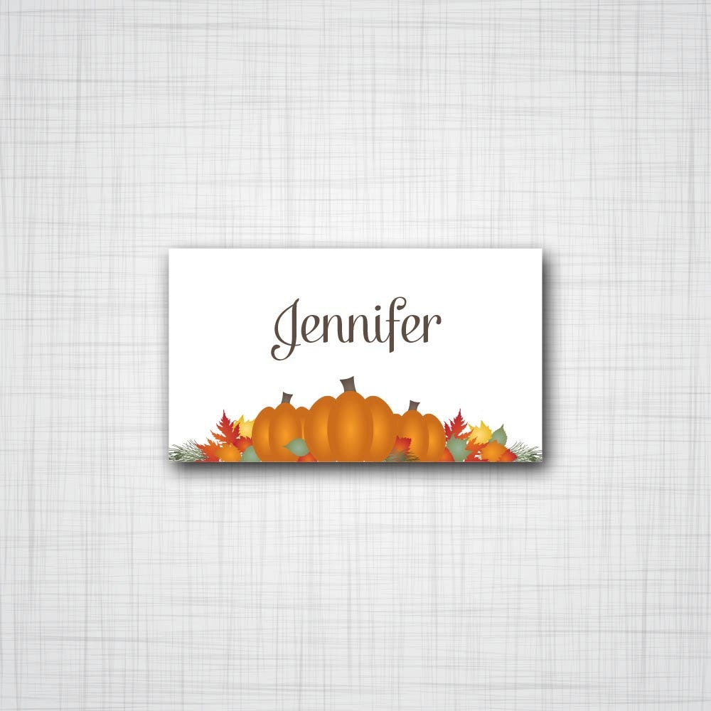 Printable pumpkin patch thanksgiving dinner personalizable place printable pumpkin patch thanksgiving dinner personalizable place card template pronofoot35fo Choice Image