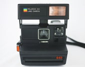 Vintage Black Polaroid 640 Land Camera (Battery Tested)