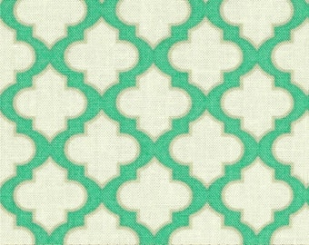 Trellis Turquoise - Up Parasol - FreeSpirit - Heather Bailey - Moroccan Tiles Geometric