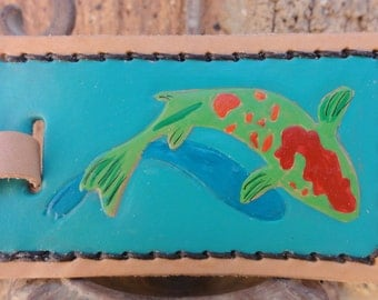 Luggage Tag with Koi Fish