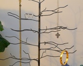 November Tree. Handwelded recycled steel tree for jewelry or decoration, Made to Order