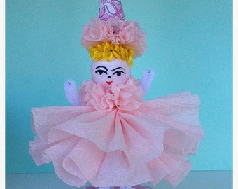 Birthday Decoration Chenille Birthday Girl Table Decor or Cake Topper Birthday Ornament TVAT