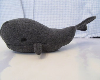 Whale, Sperm Whale, Small Size Dark Charcoal Gray Color Sperm Whale TOY to Play With Small Size