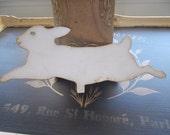 Charming White Rabbit metal decorative piece
