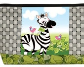 Zippered Pouch Kit - Zebra