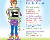 "Faithful Quilter 6"" Fabric Art Panel"