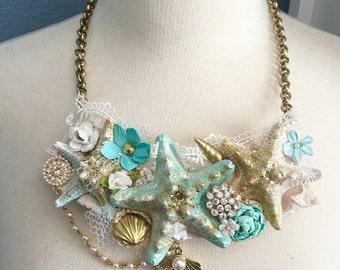 SALE Sweet Ocean Dreams Bib Necklace