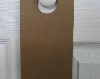 """2 Chipboard doorknob hanger for door knob 4"""" x 10 1/4"""""""