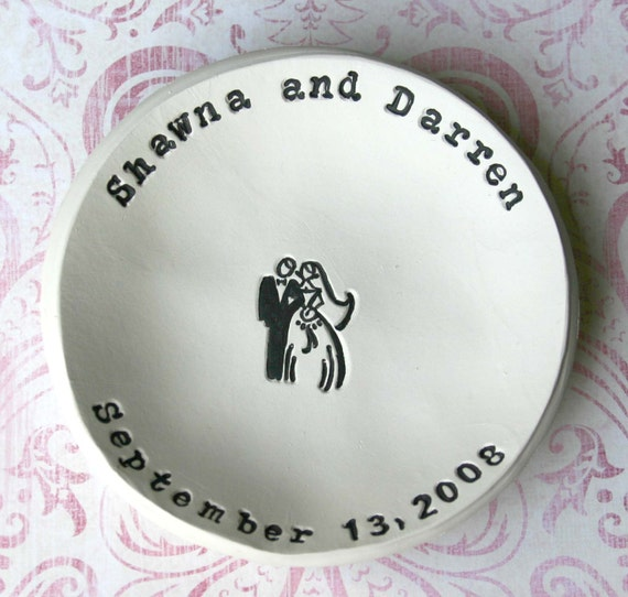 Personalized Wedding Gift: Bride and Groom Bowl, Bridal Shower Gift, Anniversary Gift, Ring Bowl