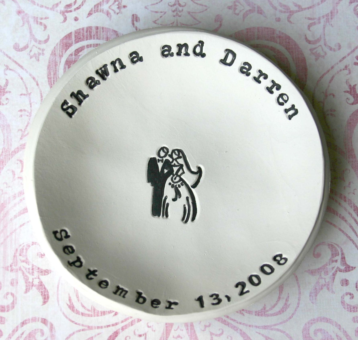 Personalized Wedding Gift: Bride and Groom Bowl Bridal Shower