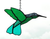 Handmade  Stained Glass Anas Humming bird