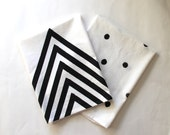 Hand Printed Dish Towels / Arrow / Chevron / Polka Dots / Gifts for Mom / Kitchen Towels