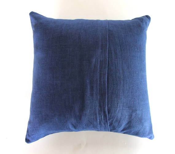 Navy Blue and White Throw Pillow / Blue and Gold Love by NestaHome