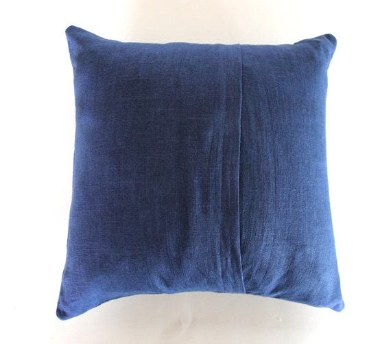 Navy Blue And Gold Decorative Pillows : Navy Blue and White Throw Pillow / Blue and Gold Love by NestaHome