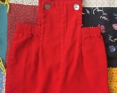 Red Corduroy Overalls 18/24 Months