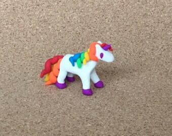 Tiny White Unicorn Eraser