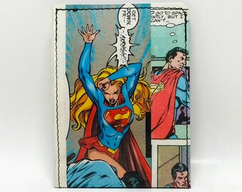 Sewn Comic Book Wallet - Supergirl