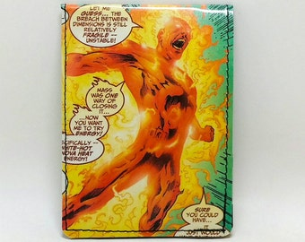 Sewn Comic Book Wallet - Fantastic Four - Human Torch