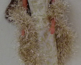 "11.5"" fashion dolls Handmade long dress with boa"