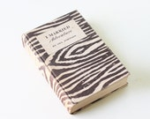 Vintage I Married Adventure Book, Osa Johnson, Zebra Print, 1940