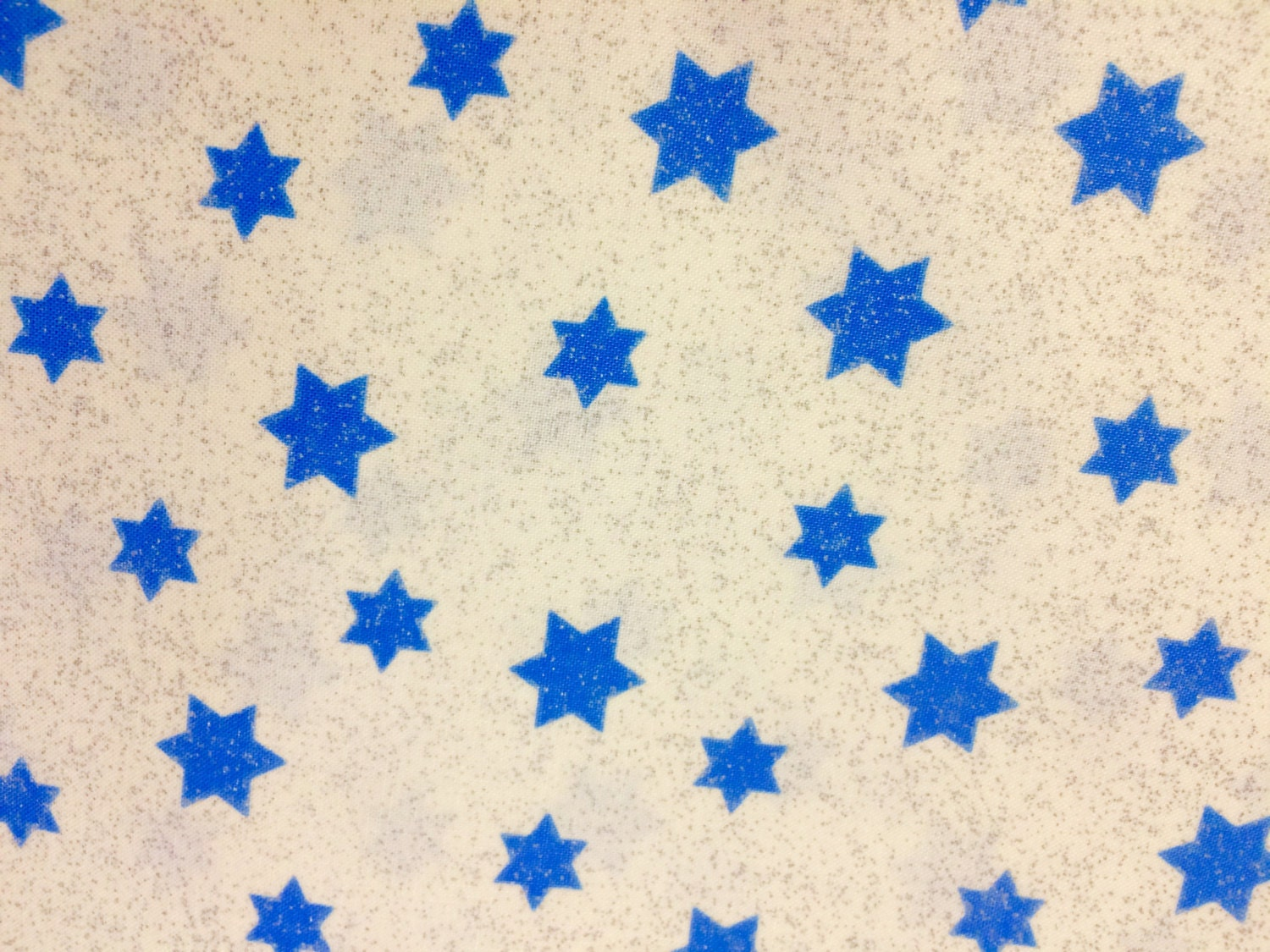 Judaic fabric blue stars of david on white happy chanukah for Star fabric australia