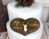 Deer Cake Topper, Deer Wedding, Hunting Wedding, Deer Themed Wedding, Deer, Wedding