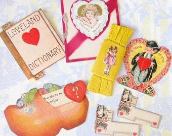 A Token of Love...Lot of Vintage 1920s-30s Valentines