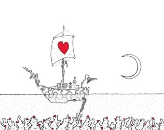 The Ship - Print of original illustration by seth.