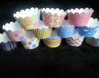 Custom Oh the Places You'll Go! Inspired Cupcake Wrappers (12)