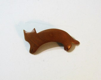 Cat Hair Clip Made Of Cherry Wood