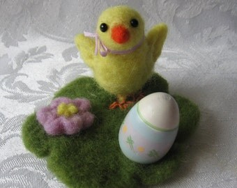 Needle Felted Little Chick, Needle Felted Animals, Felted  Baby Chick