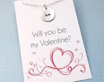 Valentines Gift | Heart Necklace, Valentines Gift for Her, Valentines Day Gift, Layering Necklace, Girlfriend Gift, Bestfriend Gift | L07